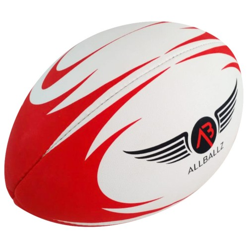 ALLBALLZ OFFICIAL 2018 PRO MATCH RUGBY BALL RED